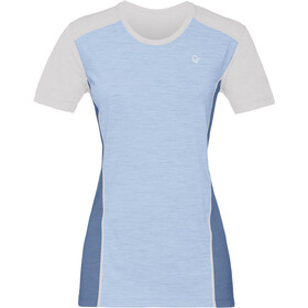 Norrøna Wool t-shirt Dames blauw/wit